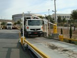 A vehicle approaches one of AccuWeigh's weighbridge automation systems.