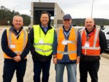 (L-R) Nepean Transport Equipment GM sales & service Dan Cleary,  ATA CEO Ben Maguire, NHVR chief engineer Les Bruzsa and JL Pearce fleet maintenance manager Lans Fisher.