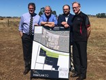 John McVeigh, Michael McCormack, InterLinkSQ general manager Blair Batts and InterLinkSQ director John Dornbusch