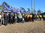 TWU NSW members protest for an increase in the drivers' industry rate