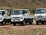 The Hino 300 Series 4x4 is available in single cab and crew cab configurations, both powered by a 165hp (464Nm), four litre diesel engine mated to a six-speed manual overdrive transmission and a dual range 4x4 transfer case.