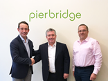 WiseTech Global deputy chief financial officer Mark Hall, left, meets Pierbridge managing director Bob Malley and chief operating officer Mark Picarello.