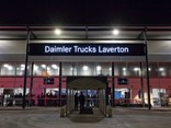Daimler Trucks has its name up in lights at AHG's Truganina dealership