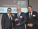 HVIA's Industry Recognition Award went to recently retired Brown and Hurley managing directors Rob Brown (centre) and Kev Hurley (absent)