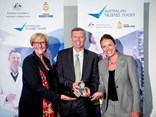 K+NA human resources director Tracey McPherson, Tim Fitzgerald and K+NA national customs manager Julia Armstrong