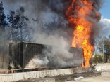 A NSW Police image of a truck fire last year