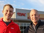 Torc CEO Michael Fleming with Martin Daum