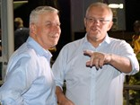 Michael McCormack and Scott Morrison in Cloncurry earlier this month