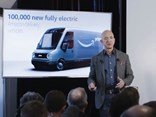 Jeff Bezos explains the Rivian electric vehicle's part in Amazon's 'pledge'