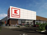 An artist's impression of a Kaufland store that won't be built