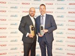 L-R: Prestige Hino Dealer Principal Angelo Valerio and West Orange Motors Dealer Principal Aaron Daniel celebrate their Dealer of the Year awards