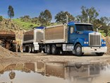 The new Kenworth T410SAR in tipper and dog mode