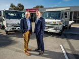 L-R: CMI Hino dealer principal Paul Crawford and general manager Nathan Chatfield
