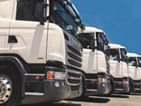 A line-up of used Scania trucks