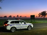 SA Police guard the border with Victoria