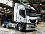 The Stralis AS-L, pictured at Iveco's Dandenong plant, is one of three units delivered to Visy