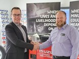 IAL head of network development Ben Lasry and Ballarat Isuzu dealer principal Ian Deacon