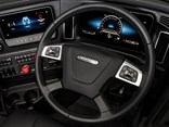 Information on both screens can be accessed through controls on the steering wheel