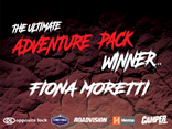 Fiona Moretti wins the Ultimate Adventure Pack