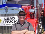 Scotty Christoff had the honour of driving K.S. Easter's pride of the fleet – a Kenworth T409SAR.