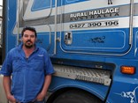 Mick Thompson drives a Kenworth K200, the pick of the Rural Haulage Australia fleet.
