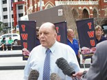Hughie Williams in fine form during 2010, demanding action from Brisbane City Council over parking favouritism for bicycle riders over couriers and taxi truck drivers.