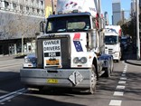 The TWU convoy hits the streets of Sydney on July 15.