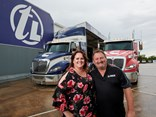 Truckline VIC TAS Territory Business Manager Casey Stewart with Truckline Hallam Manager Ian Miles