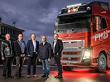 Paul and Darren Borg with Volvo Group Australia president Martin Merrick and John and Michael Borg
