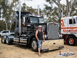 Working man: Steven Thomas from Thomas Trucking with his 1996 T900 'Silver Bullet' at the 2019 Castlemaine Truck Show.