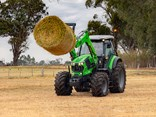 Deutz-Fahr's 6135G PowerVision is a vision in Green - an imposing sight but also sleek and stylish