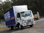 The new four cylinder engine was put to the test in an Isuzu FRR model.