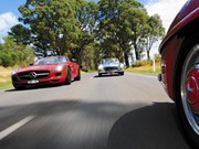 Mercedes-Benz SLS AMG vs 190SL vs 300SL