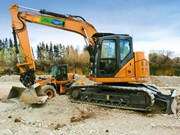 Case CX145C excavator & 821F loader