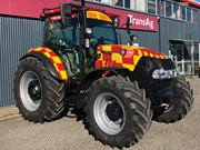 Hot tractor on display at Fieldays