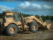 Video: JCB's armoured HMEE backhoe loader