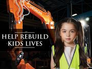 Hitachi excavator auction - just one week left to help sick kids