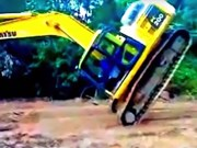 Video: Excavator fail/win compilation pt 4