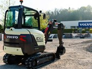 Volvo reveals electric mini-excavator prototype