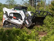 Bobcat 70 inch forestry cutter mulches more for less