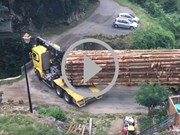 Video: Long truck, great skill