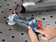 Bosch Blue GWS 18V-125 SC angle grinder connects to your phone