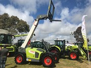 Claas Scorpion 7055 telehandler at Henty