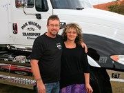 People in trucking: Brad and Lisa Walker