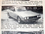 Lancia Flavia + Cortina Mark I + Impala hardtop - Ones That Got Away 427