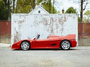 The first production Ferrari F50 for auction at Worldwide's Scottsdale sale