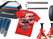 Axle stands + BMW Motorsport bag + Boss Mustang T-shirt + more -  Gearbox 437