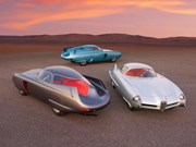 Set of three mythical Bertone Alfa Romeo B.A.T Concepts for auction