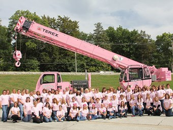 Terex donates special pink paint job for T 340-1