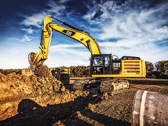 New product release: Cat 336E hybrid excavator